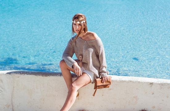 Boho Look, oversized Strickpulli, Diana König, Ernsting's family, Ibiza