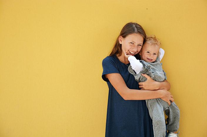 Geschwisterliebe, großer Altersabstand, großer Altersunterschied, Ernsting's family