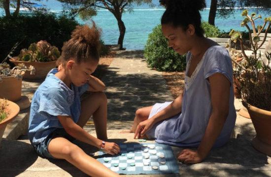 Strandspiel, Strandspiel basteln, Damespiel, Damespiel basteln