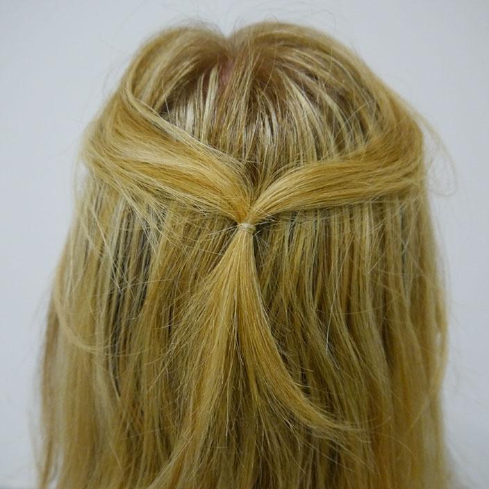 Einfache Frisuren 1 Half up half down