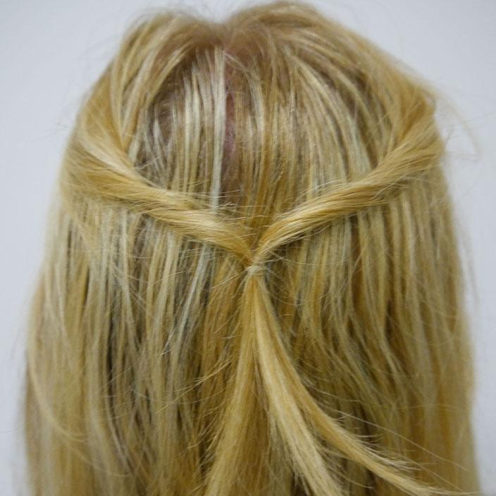Einfache Frisuren 3 Half up half down