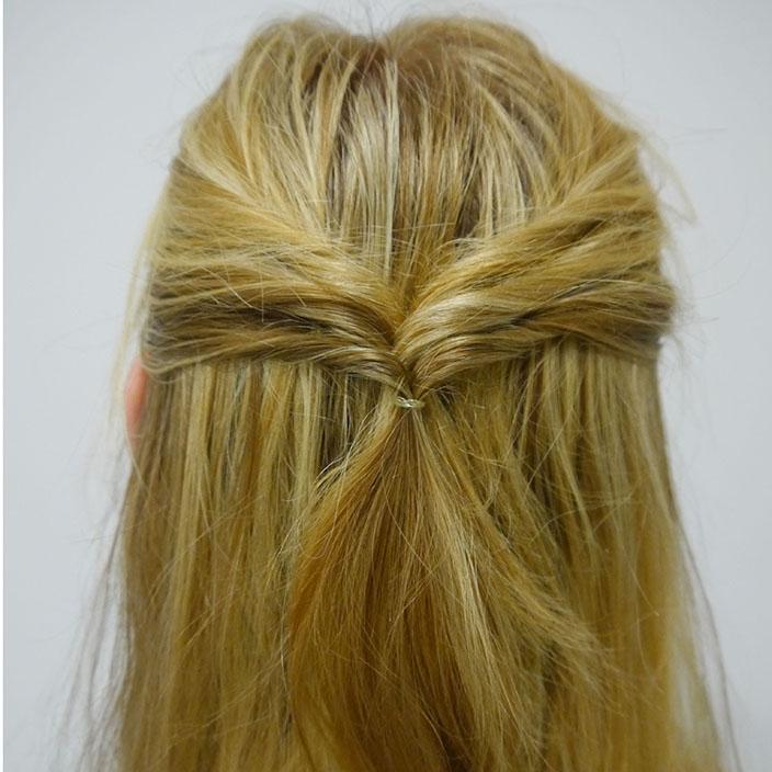 Einfache Frisuren 5 Half up half down