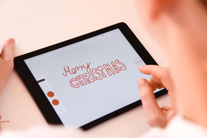 Weihnachtskarten zum Ausdrucken, Weihnachtskarten gestalten, Karten mit Adobe Draw gestalten