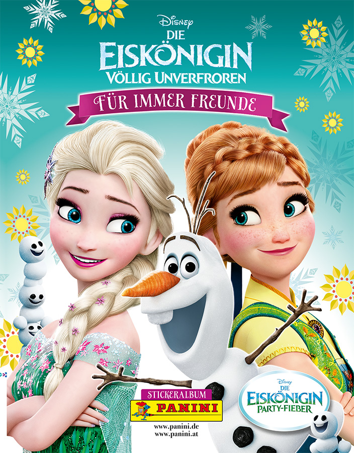 Disney, Panini-Stickeralbum, Frozen, Eiskönigin, Anna, Elsa, Olaf, Sticker sammeln