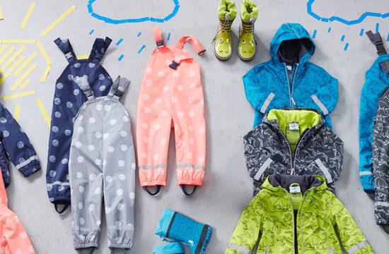 Regenkleidung, Ernsting's family, Qualitätskleeblatt, Funktionskleidung Kinder, Regenkleidung Kinder