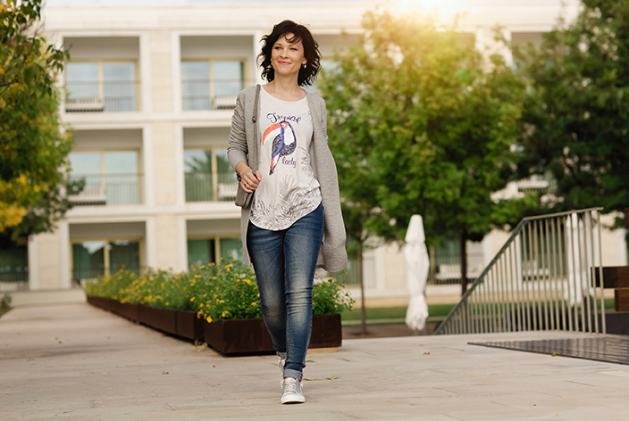 Umstyling mit Romy, Typveränderung, Umstyling, Mode-Tipps, Beauty, Vorher-Nachher, Styling-Tipps, Jeans-Look, Neuer Look, Romy