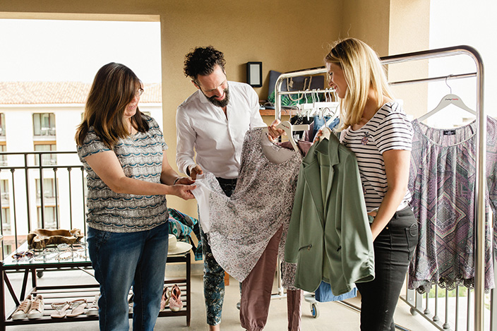 Umstyling, Typveränderung, Mode-Tipps, Vorher-Nachher, Styling-Tipps, Mode-Ratgeber, Monica, Marcello, Kathi, Ernsting's family