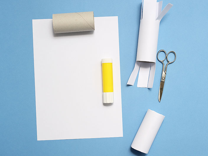 Schneemann basteln aus Papier, Schneemann, Bastelanleitung